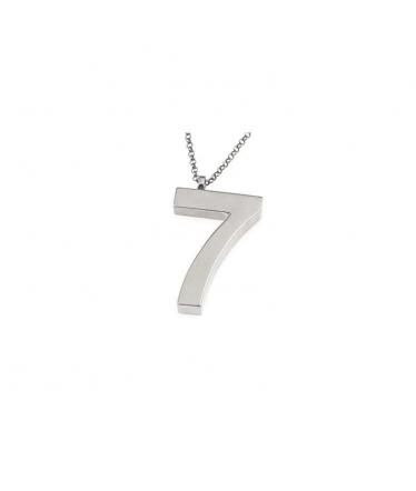 gargantilla número siete en plata