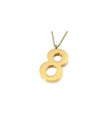 gargantilla número ocho en oro