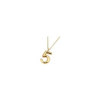 collar número cinco en oro