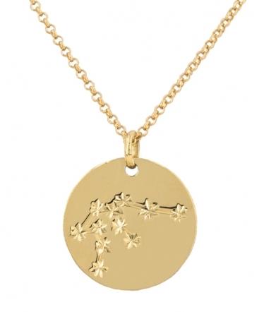 collar acuario oro
