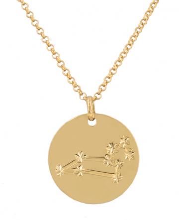 collar leo oro